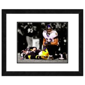 """Baltimore Ravens Ray Lewis Framed 11"""" x 14"""" Player Photo"""