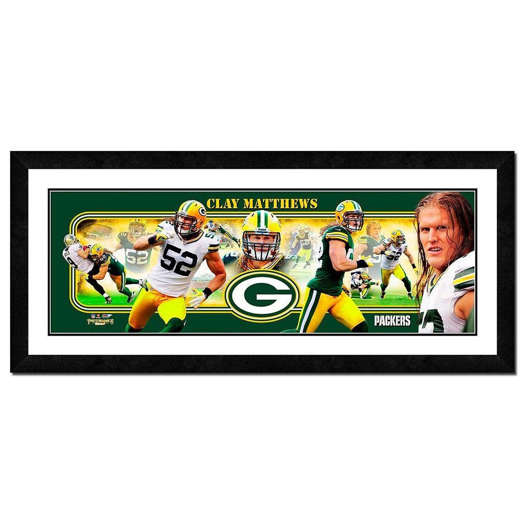 Green Bay Packers Clay Matthews Framed Player Photoramic