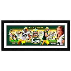 Green Bay Packers Clay Matthews Framed Player Photoramic