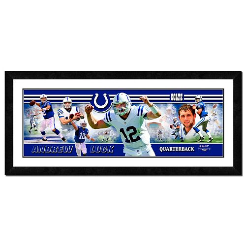 Indianapolis Colts Andrew Luck Framed Player Photoramic
