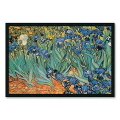 'Garden Of Irises' Framed Wall Art by Vincent van Gogh