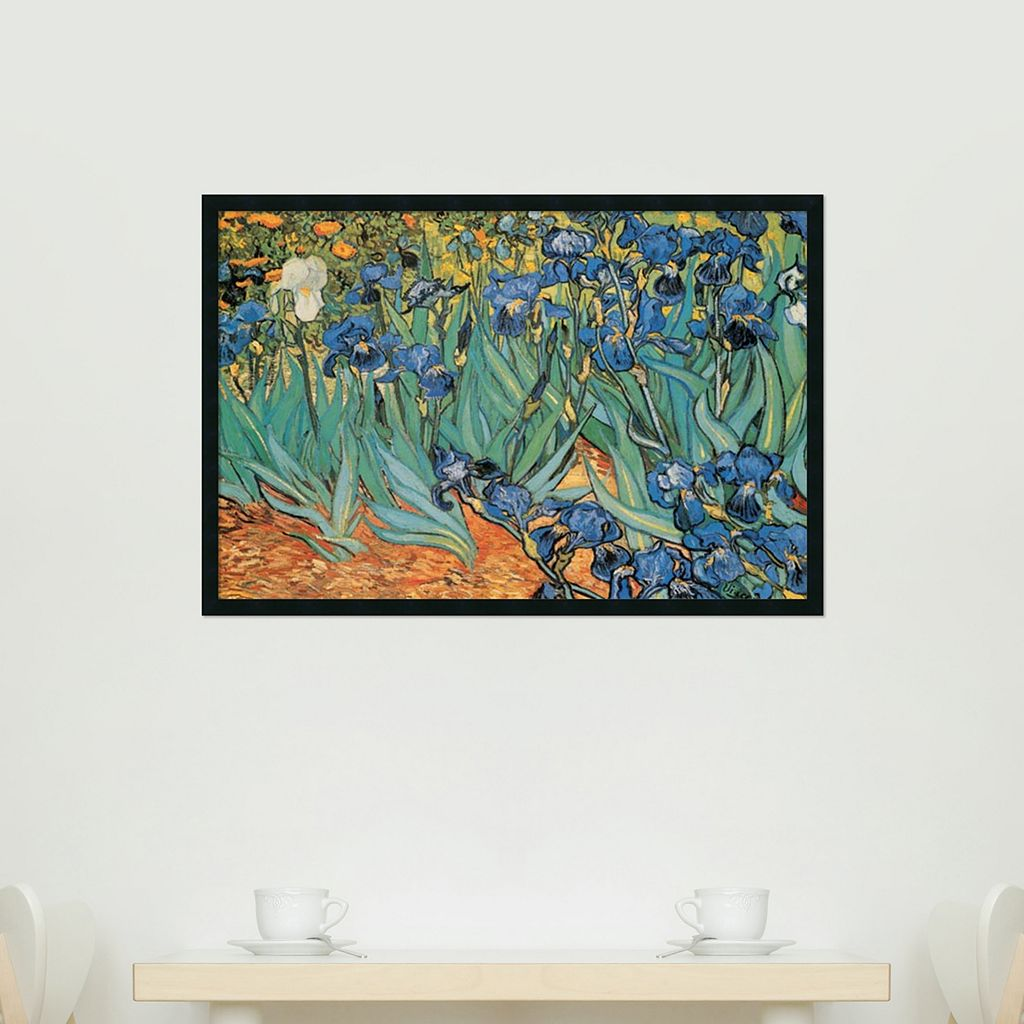 Garden Of Irises Framed Wall Art by Vincent van Gogh