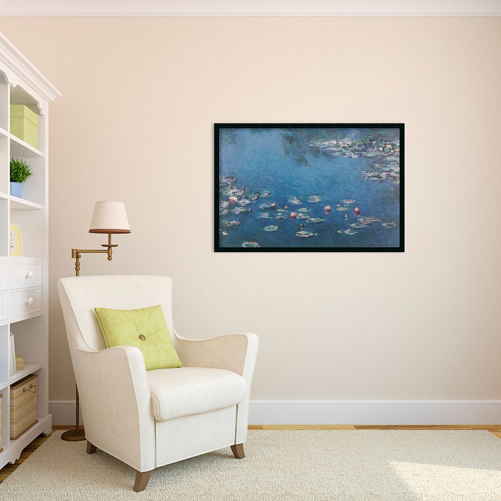 Waterlillies Framed Wall Art by Claude Monet