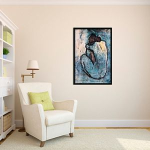 Blue Nude Framed Wall Art by Pablo Picasso