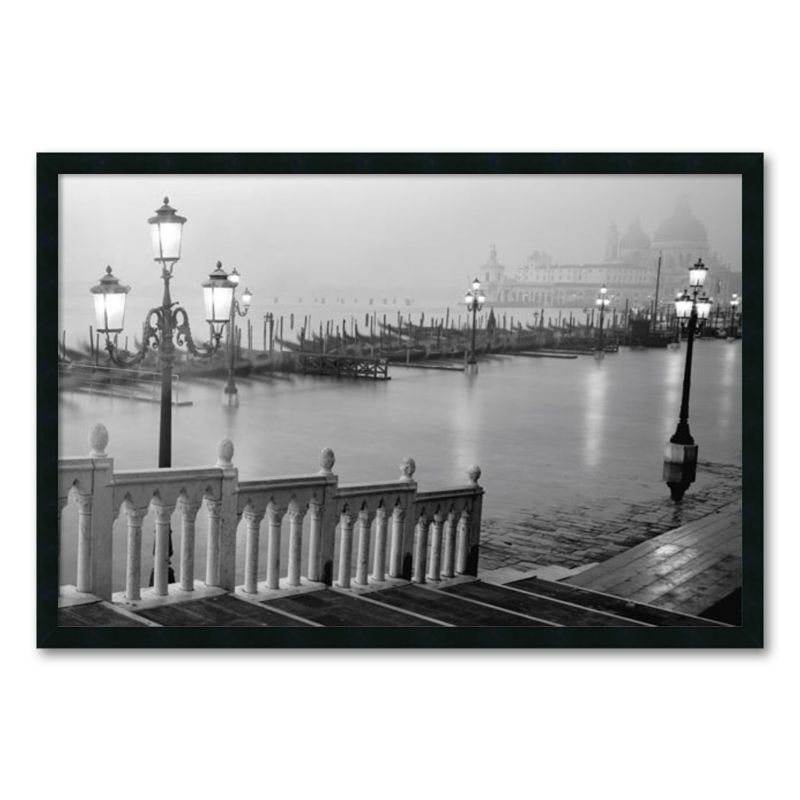 Grand Canal - Venice Framed Wall Art, Black