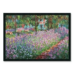 'Le Jardin de Monet a Giverny' Framed Wall Art by Claude Monet