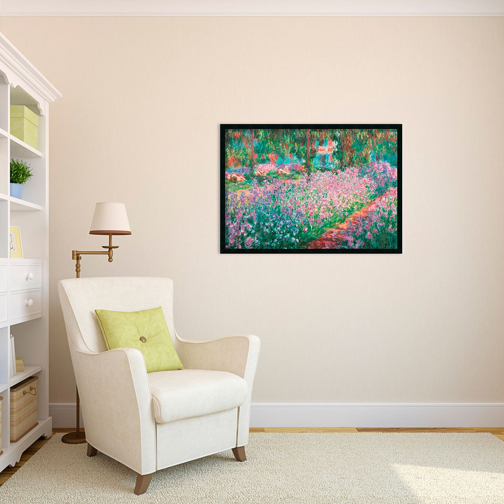 Le Jardin de Monet a Giverny Framed Wall Art by Claude Monet