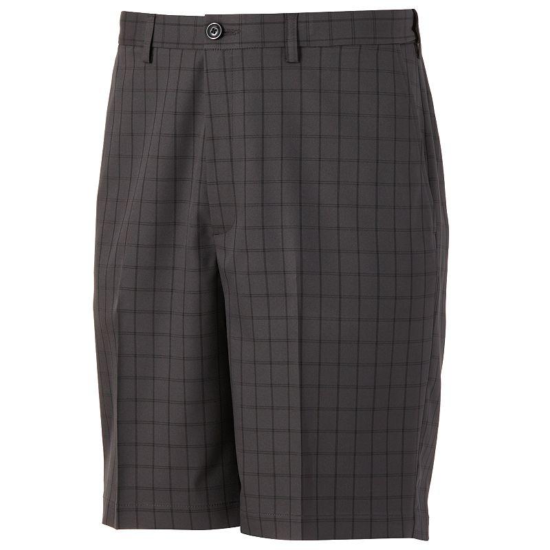 Haggar Cool 18 Windowpane Performance Shorts - Men, Size: 29 (Grey)