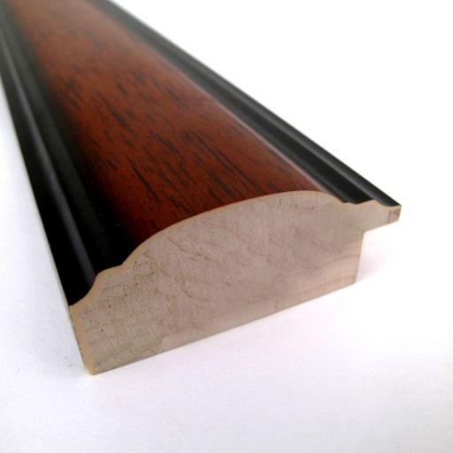 Regency Medium Beveled Traditional Wood Wall Mirror