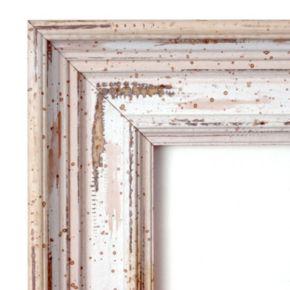 Alexandria Square Whitewash Distressed Wood Wall Mirror