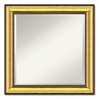Vegas Medium Burnished Gold-Tone Traditional Wood Wall Mirror