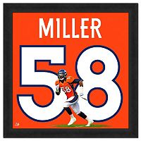 Denver Broncos Von Miller Framed Jersey Photo