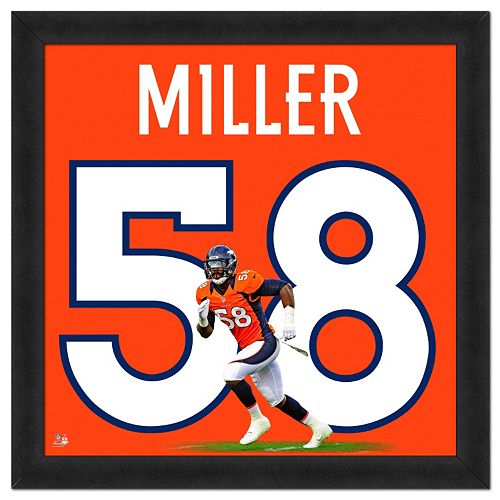Denver Broncos Von Miller Framed Jersey Photo