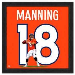 Denver Broncos Peyton Manning Framed Jersey Photo