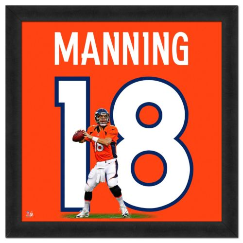 Denver Broncos Peyton Manning Framed Jersey Photo
