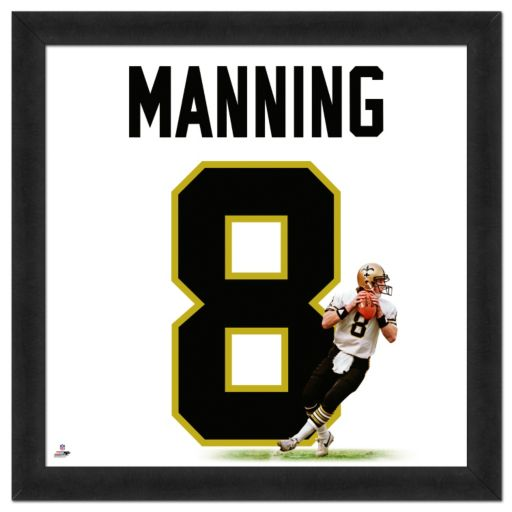 New Orleans Saints Archie Manning Framed Jersey Photo