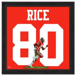 San Francisco 49ers Jerry Rice Framed Jersey Photo
