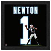 Carolina Panthers Cam Newton Framed Jersey Photo