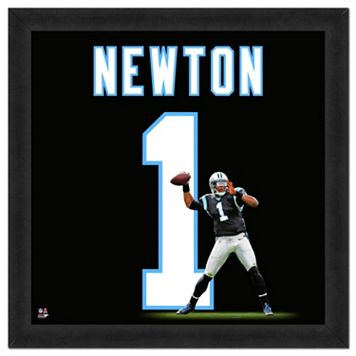 Carolina Panthers Cam Newton Framed Jersey Photo