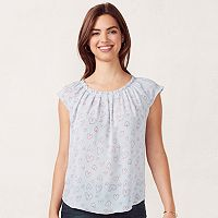 Women's LC Lauren Conrad Pleated Top