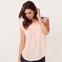 Women's LC Lauren Conrad Love, Lauren Pleated Top