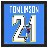 San Diego Chargers LaDanian Tomlinson Framed Jersey Photo