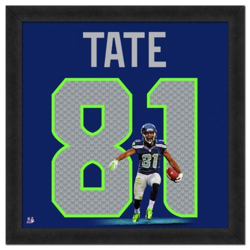 Seattle Seahawks Golden Tate Framed Jersey Photo