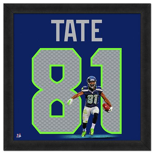 Seattle Seahawks Golden Tate Framed Jersey Photo
