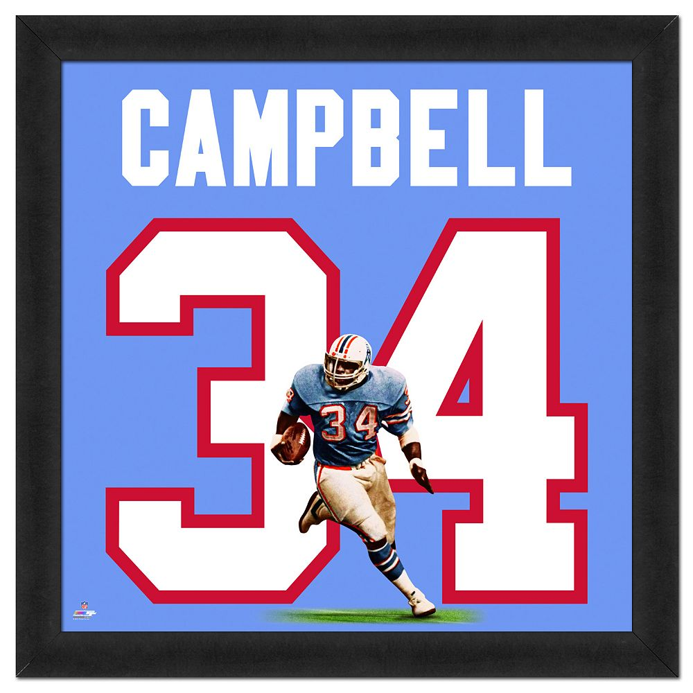 free shipping 64666 de190 Houston Oilers Earl Campbell Framed Jersey Photo
