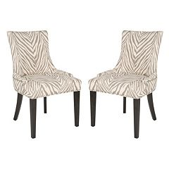 Safavieh Lester Zebra 2-pc. Dining Chair Set