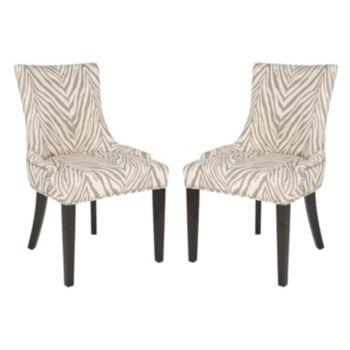 Safavieh Lester Zebra 2-pc. Dining Chair Set
