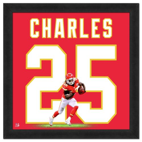 Kansas City Chiefs Jamaal Charles Framed Jersey Photo