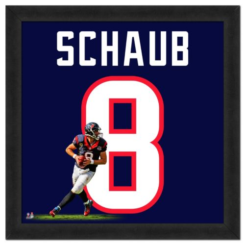 Houston Texans Matt Schaub Framed Jersey Photo