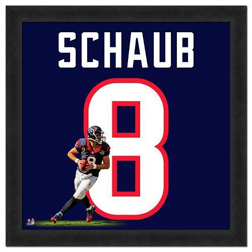 Houston Texans Matt Schaub Framed Jersey Photo
