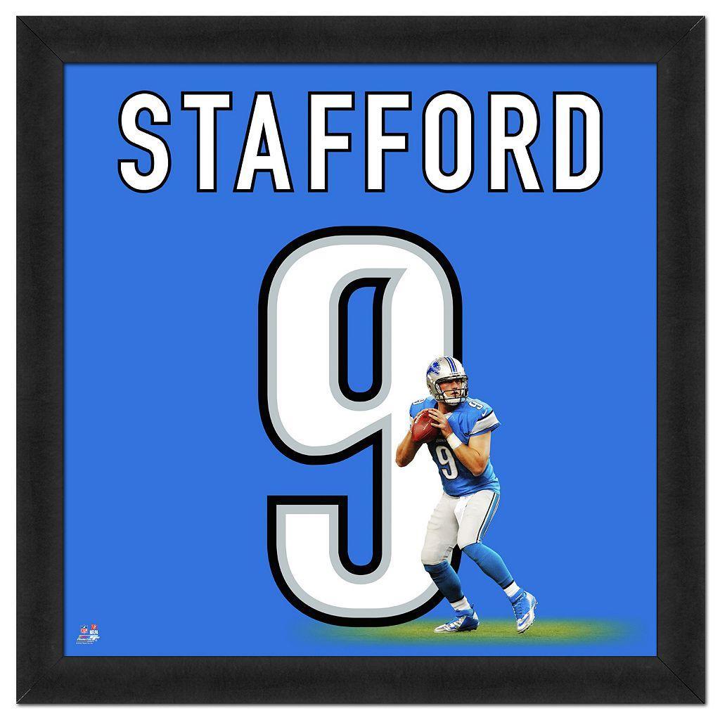 Detroit Lions Matthew Stafford Framed Jersey Photo