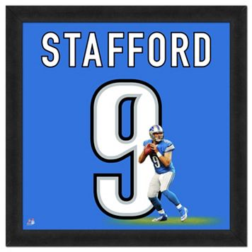 Detroit Lions Matthew Stafford Framed Jersey Photo