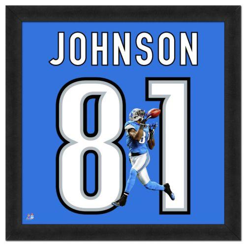 Detroit Lions Calvin Johnson Framed Jersey Photo