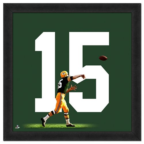 Green Bay Packers Bart Starr Framed Jersey Photo