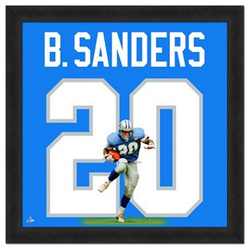 Detroit Lions Barry Sanders Framed Jersey Photo