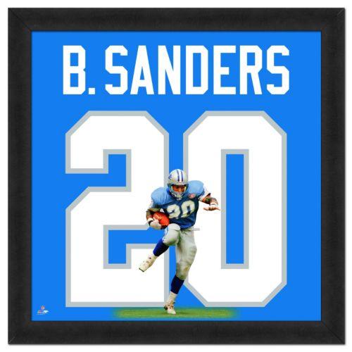 Detroit Lions Barry Sanders Framed Jersey Photo