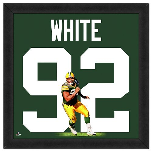 Green Bay Packers Reggie White Framed Jersey Photo