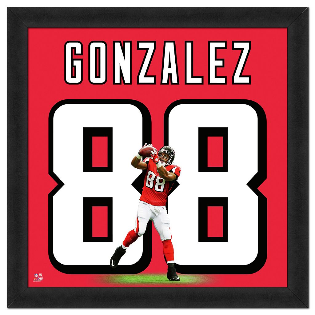 Atlanta Falcons Tony Gonzalez Framed Jersey Photo