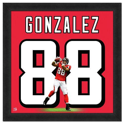 Atlanta Falcons Tony Gonzalez Framed Jersey Photo