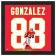 Kansas City Chiefs Tony Gonzalez Framed Jersey Photo