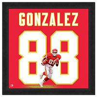Kansas City Chiefs Tony Gonzalez Framed Jersey Photo