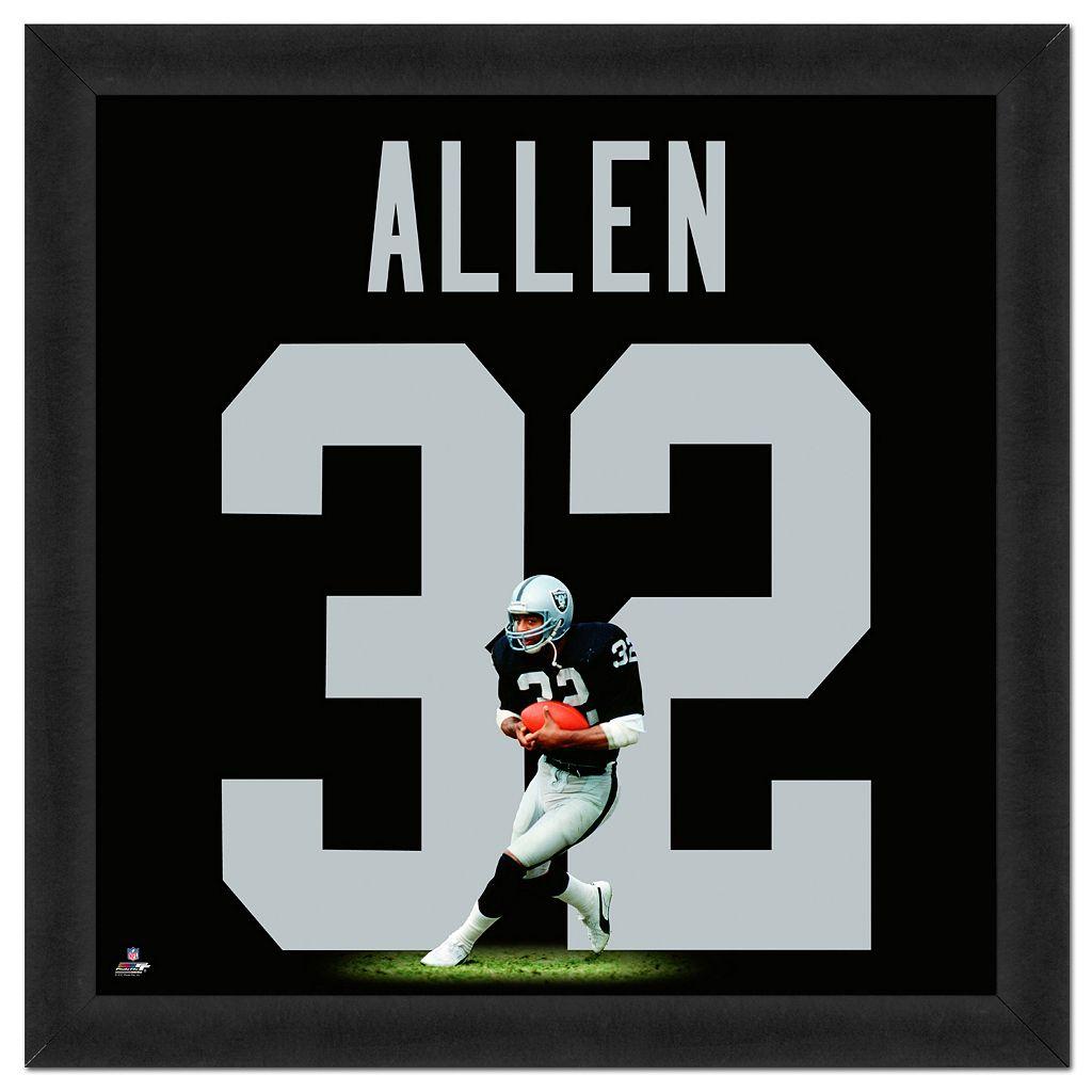 Los Angeles Raiders Marcus Allen Framed Jersey Photo