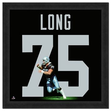 Los Angeles Raiders Howie Long Framed Jersey Photo