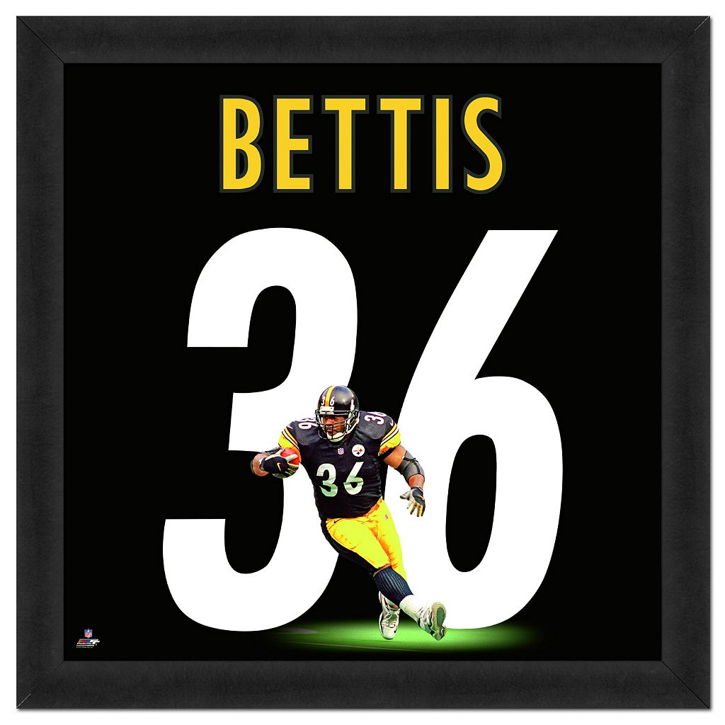 Pittsburgh Steelers Jerome Bettis Framed Jersey Photo