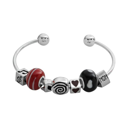 Individuality Beads Sterling Silver Cuff Bracelet
