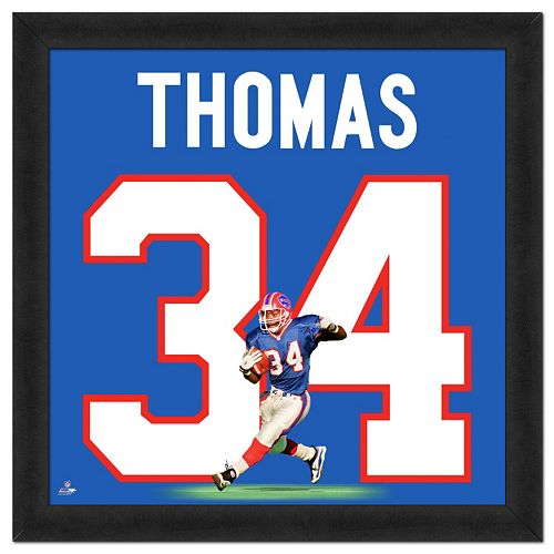 Buffalo Bills Thurman Thomas Framed Jersey Photo